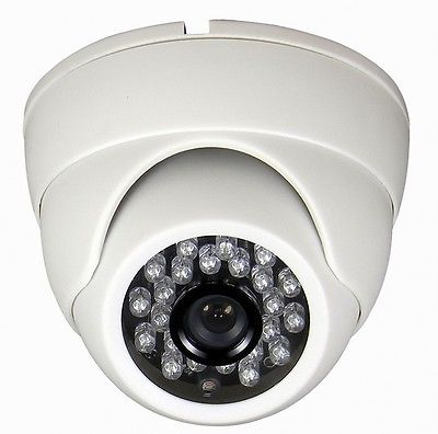 Outdoor Surveillance Camera Security System Dome Color 550TVL LED 3.6mm CCTV