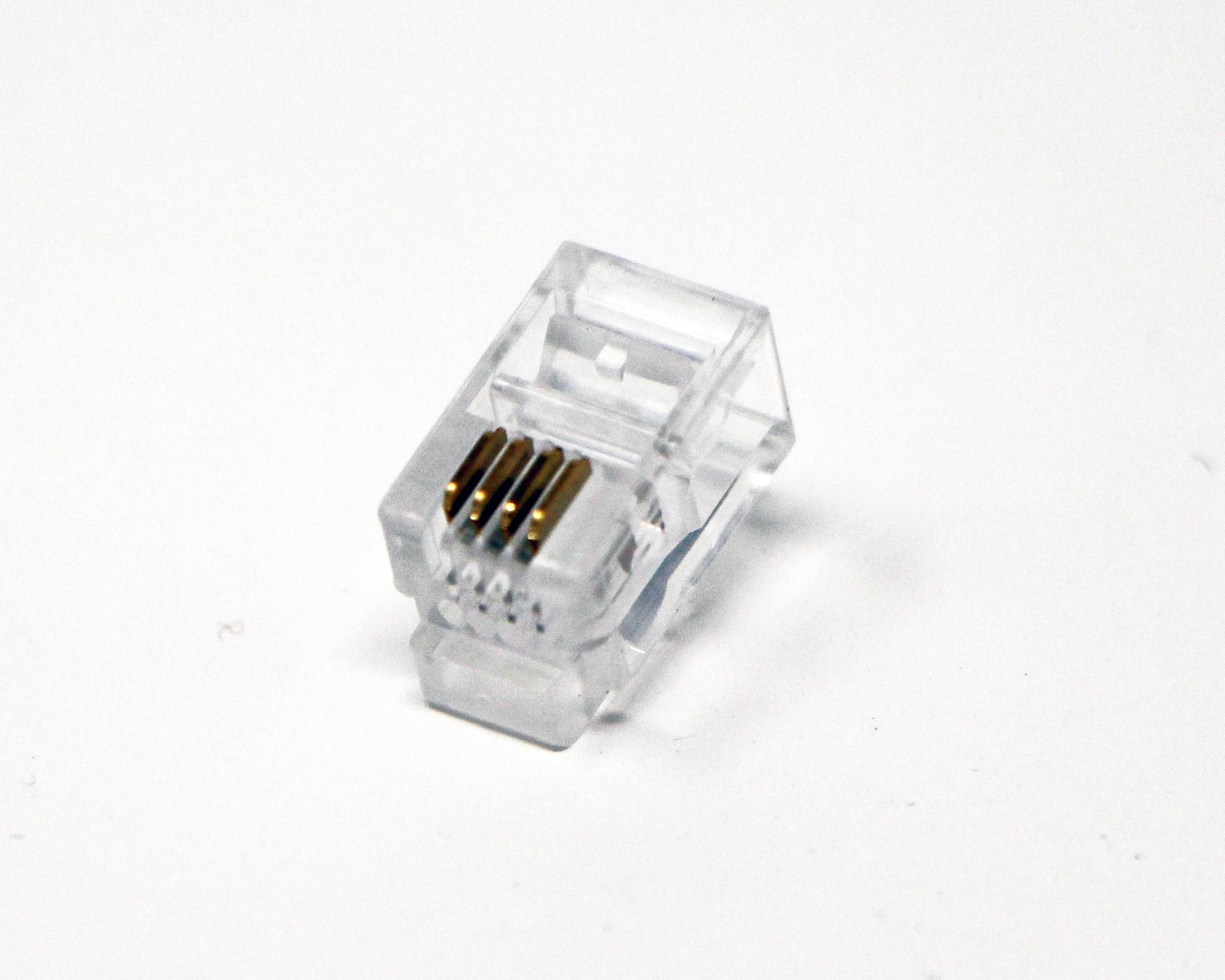 RJ9 Modular Headset Connector (100 Pack Per Bag) 4P4C Phone Connectors - RJ9/RJ10/RJ22 Jack Crimp