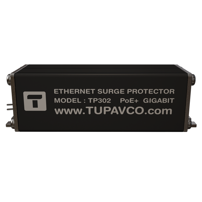 Tupavco TP302 Ethernet Surge Protector PoE+ Gigabit RJ45 Lightning Suppressor
