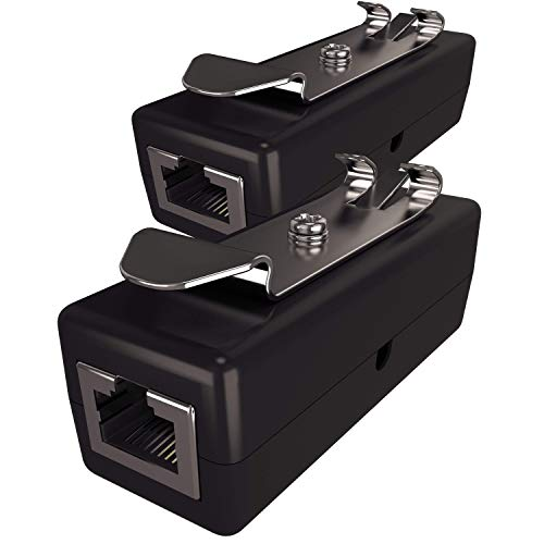 Ethernet Surge Protector (2 pack) - PoE+ - Gigabit - (with DIN Rail Mount Option)