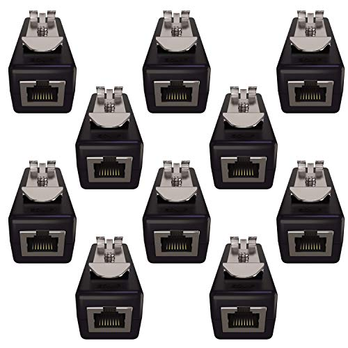 Ethernet Surge Protector (10 pack) - PoE+ - Gigabit - (with DIN Rail Mount Option)