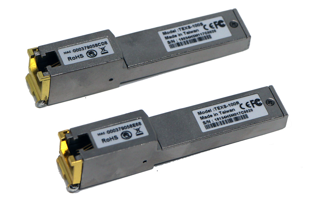 SFP Ethernet Extender Pair of Lan Pluggable Modules Range 1 Mile over Phone Wire or Network Cable VDSL2