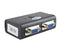 KVM Switch 2 Port Splitter w VGA/PS2 Cables Resolution 1920×1440 2 Ports Manual