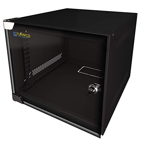 "4U Portable 10"" Network Cabinet Half-Rack SOHO Floor/Wall Mount Glass Door Secured Lock"