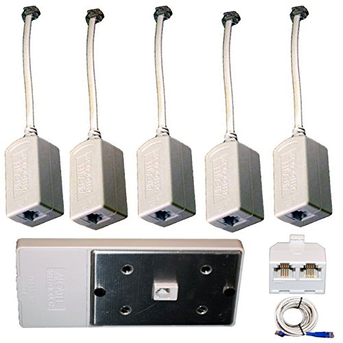 DSL Filter Kit 5 Pack Inline DSL Phone Filters & Wall Filter & Splitter & Cable