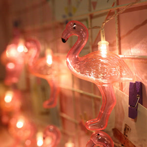 Cordão de luz led flamingos com mini pregadores - Flavia do C S Toledo