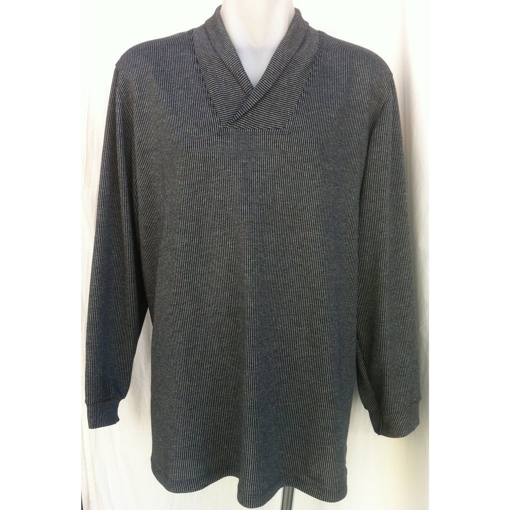 Men's Roll Collar Long Sleeve Top - GLENBROOK - Adaptive Fitz Clothing