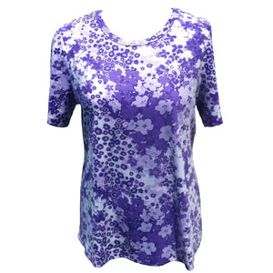 (L2) CHELSEA - LILAC - SHORT SLEEVE T-SHIRT - Adaptive Fitz Clothing