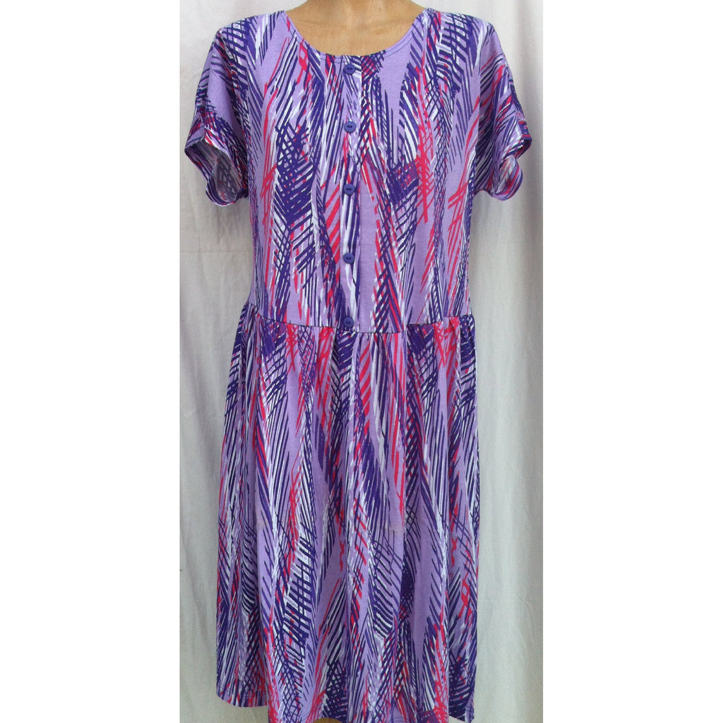 (L4) DAINTREE - LILAC - Budget Split Back Day Dress - Adaptive Fitz Clothing
