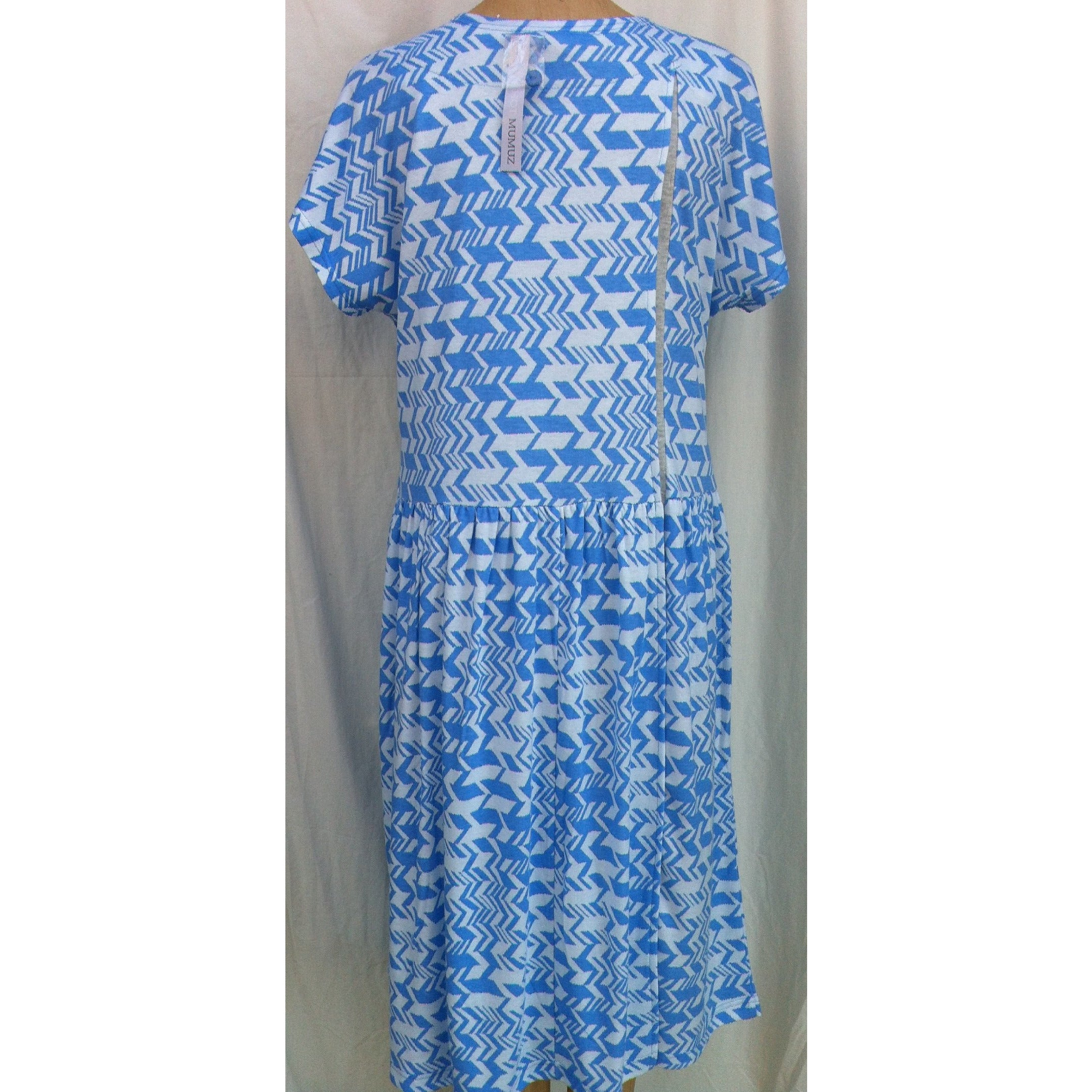 (L4) MANHATTAN - FRENCH BLUE - Budget Split Back Day Dress - Adaptive Fitz Clothing