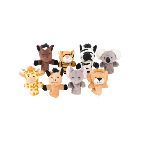 Goki Finger Puppet Set, Wild Animals-Toy-Rockaway Toys