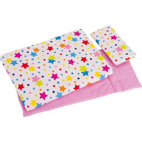 Goki Bedding Set For Dolls, Stars-Toy-Rockaway Toys