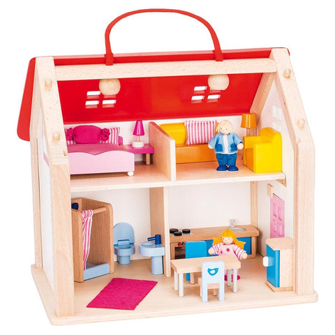 Goki Doll's House Suitcase with Accessories