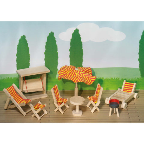 Goki Doll's House Garden Furniture-Toy-Rockaway Toys