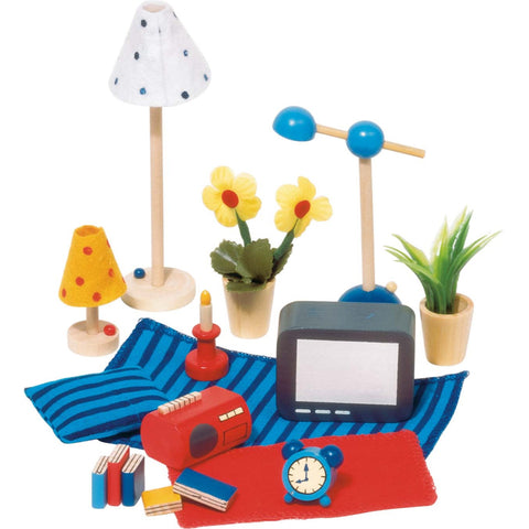 Goki Doll's House Accessories - Living Room & Bedroom-Toy-Rockaway Toys