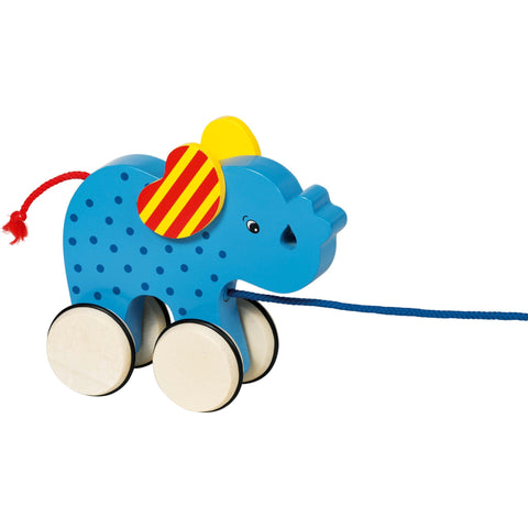 Goki Pull-along Animal Elephant Basjo-Toy-Rockaway Toys