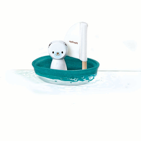 Plan Toys Polar Bear Sailing Boat