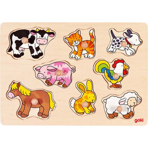 Goki Lift-out Puzzle - Farm VII-Toy-Rockaway Toys