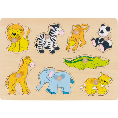 Goki Lift-out Puzzle - Zoo Animals-Toy-Rockaway Toys