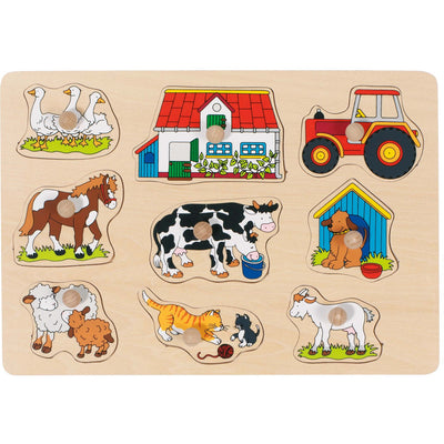 Goki Lift-Out Puzzle Farm - Style 1-Toy-Rockaway Toys