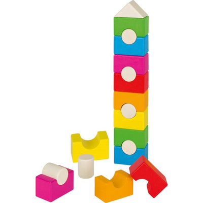 Goki Stacking Tower, Rainbow House-Toy-Rockaway Toys