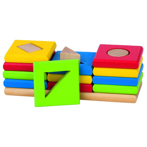 Goki Colour and Shapes Sorting Game-Toy-Rockaway Toys