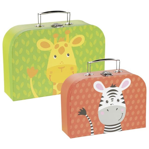Goki Suitcases - Giraffe and Zebra