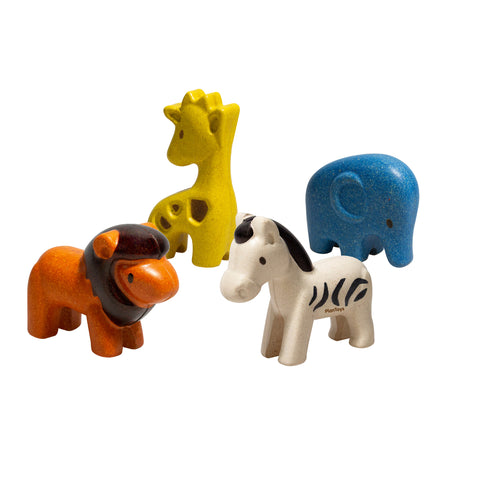 Plan Toys Wild Animal Set