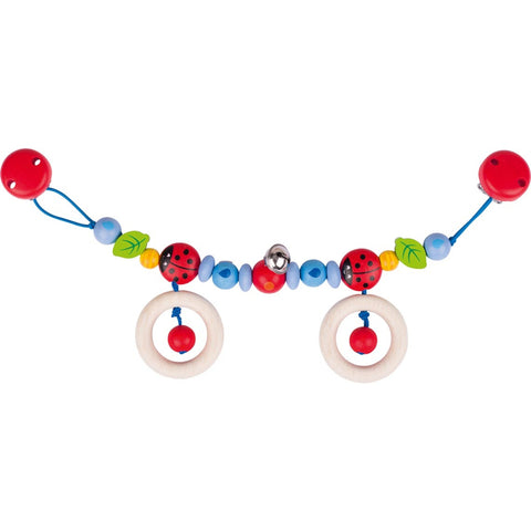 Heimess Pram Chain Ladybird I with Clips-Toy-Rockaway Toys