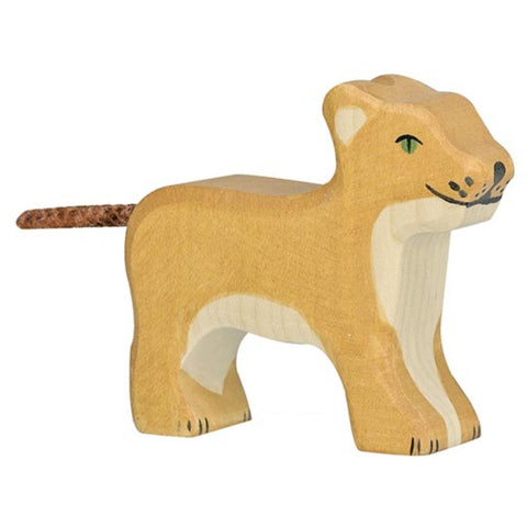 Holztiger Lion, Small, Standing-Toy-Rockaway Toys