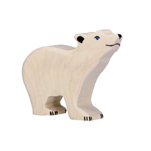 Holztiger Polar Bear, Small, Head Raised