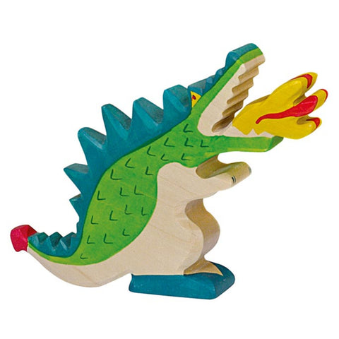 Holztiger Dragon, Green-Toy-Rockaway Toys