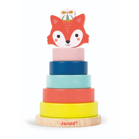 Janod Baby Forest - Fox Stacker-Toy-Rockaway Toys