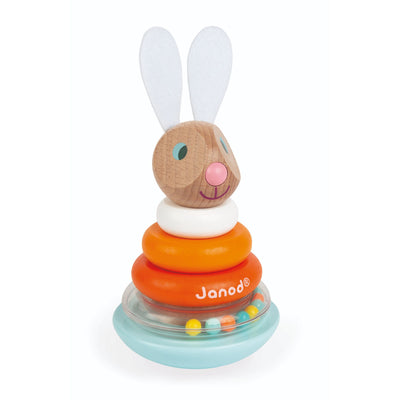 Janod Lapin Stackable Roly-Poly Rabbit-Toy-Rockaway Toys