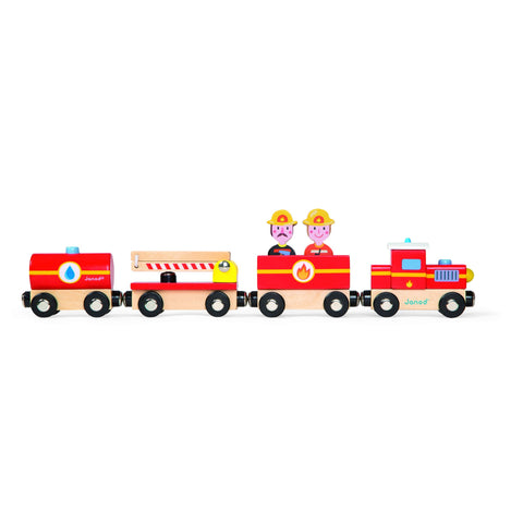Janod Story - Firefighters Train-Toy-Rockaway Toys