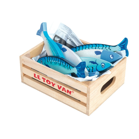 Le Toy Van Market Crate - Fresh Fish-Toy-Rockaway Toys