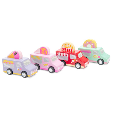 Le Toy Van Sweets & Treats Pull Backs (1 Truck)-Toy-Rockaway Toys