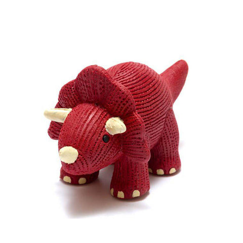 Best Years Ltd My First Natural Rubber Triceratops Teether and Bath Toy