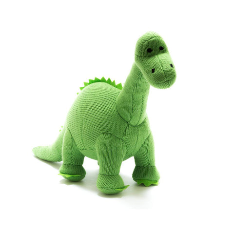 Best Years Ltd Knitted Diplodocus Dinosaur Toy - Green