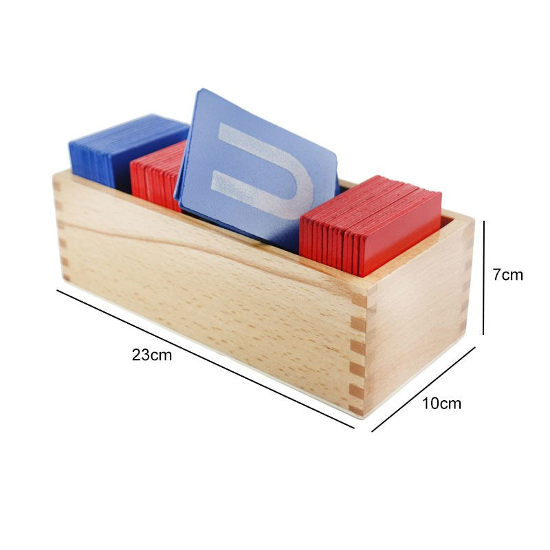 Montessori Sensorial SandPaper Letter Card Educational Toy