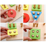 3D Puzzle Montessori Wooden Toy