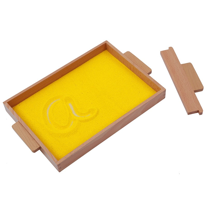 Montessori Sand Tray - Preschool Training Learning Toys