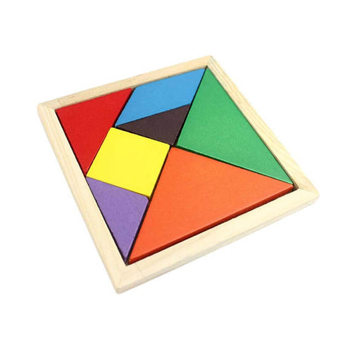 Colorful Geometry Wood Puzzles