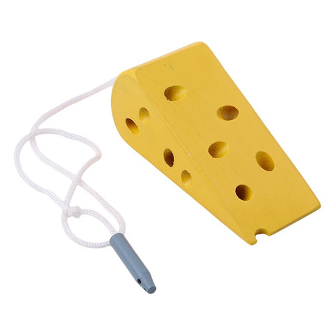 Mouse Thread Cheese Plaything Early Learning Education Toys Montessori