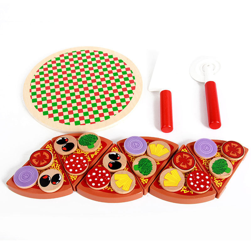 Pizza Wooden Toys Food - Kitchen Pretend Play