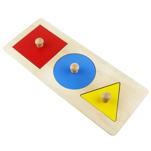 Geometric Puzzle Board Wooden Educational Montessori Toys For Toddler