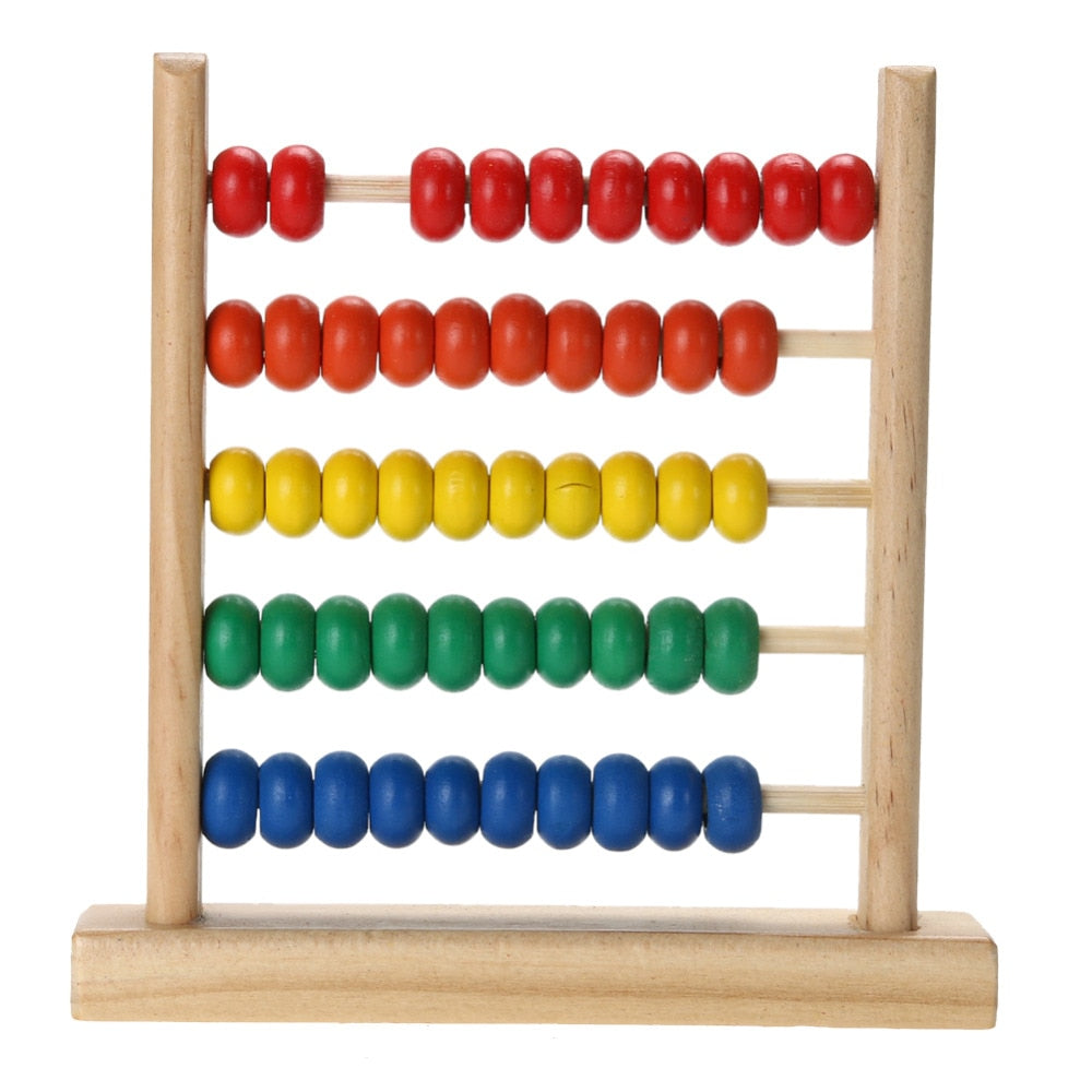 Small Rainbow Abacus Bead Mathematics Toy Children Kids