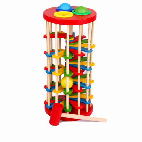 Wooden Toy Batting Ladder Hand Knock The Ball