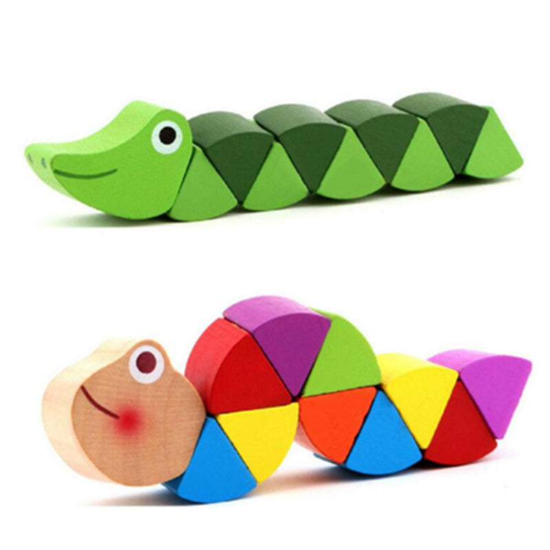 Exercise Baby Fingers Flexible Kids Wood Twist Insects Game