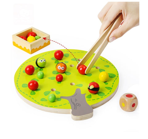 Wooden Apple picking Montessori Toy